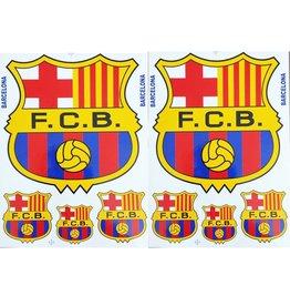 F3 Bögen 2 Aufkleberbögen (F3) FC Barcelona - Spain Soccer - Football Club - Fußball