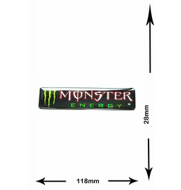 Monster Energy Energy Drink  - Monster Energy - 2 Stück  - Metalleffekt - grün - green -
