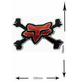 Fox FOX - Bone - Knochen  - 2 Stück  - schwarz - rot - black red - Glitzereffekt -