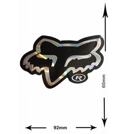 Fox FOX - Head - Kopf  - 2 Stück  - schwarz - silver - black - silver - Glitzereffekt -
