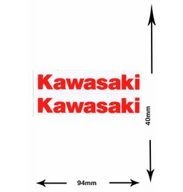 Kawasaki Kawasaki -2  Bögen insgesamt 4 Aufkleber - rot -red  -