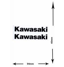 Kawasaki Kawasaki - 2  Bögen insgesamt 4 Aufkleber- schwarz - black -