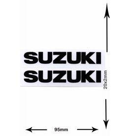 Suzuki SUZUKI - 2  Bögen insgesamt 4 Aufkleber - small - schwarz - black -