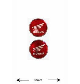 Honda Honda - 3D 2 Stück - rot - red - Wappen