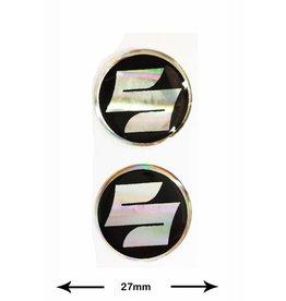 Suzuki SUZUKI - 3D round - 2 Stück - Schwarz - black - Wappen