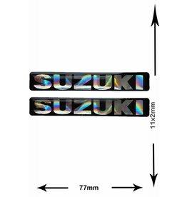 Suzuki SUZUKI - 3D square - 2 Stück - Schwarz - black - Wappen