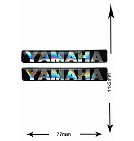 Yamaha YAMAHA - 3D square - 2 Stück - Schwarz - black - Wappen