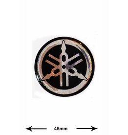 Yamaha Yamaha - 3D 2 Stück - silber mit Glitzer - Wappen
