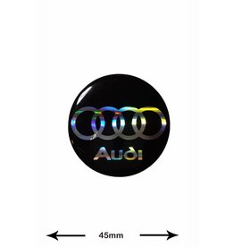Audi Audi -  3D 1 Stück - Schwarz - black - Wappen