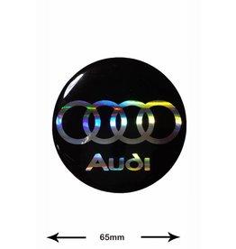 Audi Audi - BIG - 3D 1 Stück - Schwarz - black - Wappen