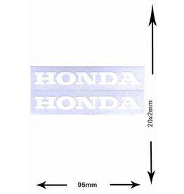 Honda HONDA - 2  Bögen insgesamt 4 Aufkleber -  weiss -