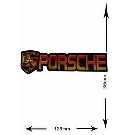 Porsche Porsche  - 2 Stück  - schwarz - silver - black - silver -3D Metalleffekt -