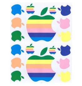 F4 Bögen 2 Aufkleberbögen (F4)  Apple pastel - Computer -