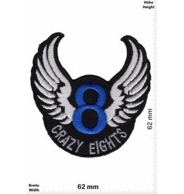8 Ball Crazy Eights - 8 - wings - blue