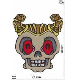 Totenkopf Totenkopf mit Hörner