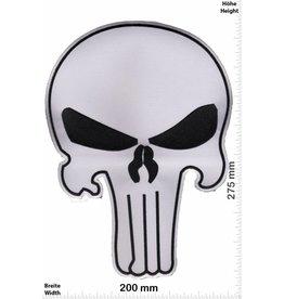 Punisher Punisher weiss / schwarz -  27 cm - BIGBiker Chopper - Rocker - Motorcycle - Kutte
