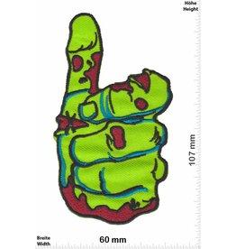 Zombie Zombie Hand -Daumen- grün