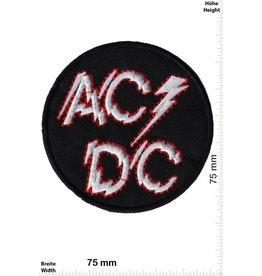 AC DC ACDC  - silver Power - AC DC - round