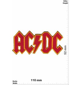 AC DC ACDC -red gold - AC DC