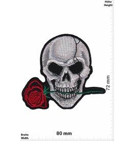 Totenkopf Totenkopf  mit Rose