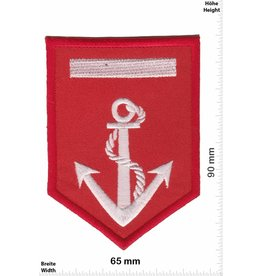 U.S. Navy Navy - rot silber - Anker