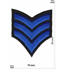 Sergant 3 Streifen blau  - Sergant