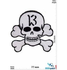 Lucky 13 Lucky 13 - Totenkopf - weiss