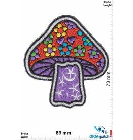 Magic Mushroom Magic Mushroom - purple - Old School Patch