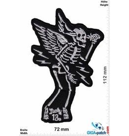 Lucky 13 Lucky 13 - Skull Fly - silver