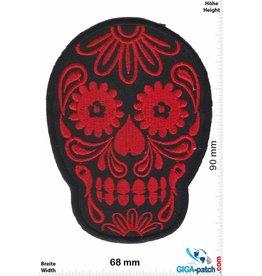 Muerto Skull - Totenkopf - Muerto- black red