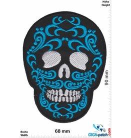 Muerto Skull - Totenkopf - Muerto- black blue