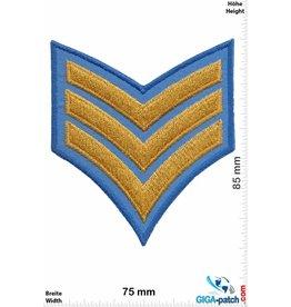 Sergant 3 Streifen  blue gold  - Sergant