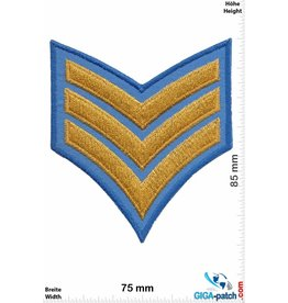 Sergant 3 Stripes  blue gold  - Sergant