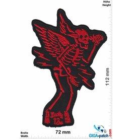 Lucky 13 Lucky 13 - Skull Fly - red