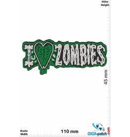 Zombie I love Zombie - green
