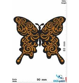 Schmetterling, Papillon, Butterfly Schmetterling -gold- old school