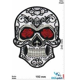 Muerto Skull - Muerto- - rose - weiss -  24 cm