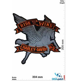 Harley Davidson Harley Davidson Motor - Ride with the Wind - 30 cm -BIG
