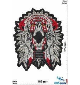 Indian Skull Indian Chief - Totenkopf Indianerhäuptling  - 23 cm - BIG