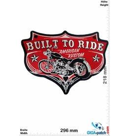 Biker Built  to Ride - American Kustom -   30 cm - BIG