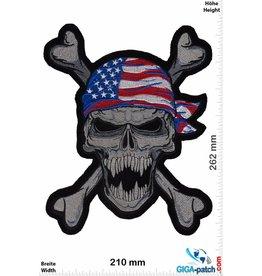 Biker USA - Totenkopf - Pirat- Skull -  26 cm - BIG