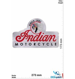 Indian Indian Motorcycles- Since 1901 - white - 27 cm