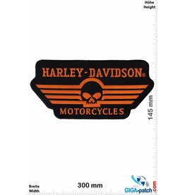 Harley Davidson Harley Davidson - orange Skull  - 30 cm -BIG
