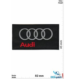 Audi Audi - schwarz rot -Quadrat