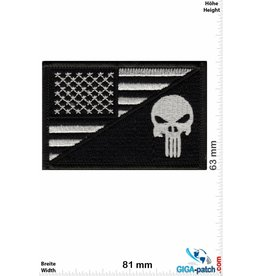 Punisher Punisher - Flag - USA - silber