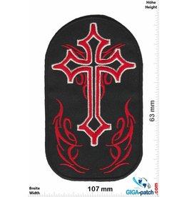 Kreuz Kreuz - Crucifix - rot schwarz