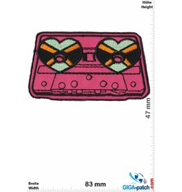 Oldschool Kassettenrecorder - Tape -Herz