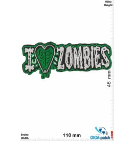 Zombie I love Zombie - silver