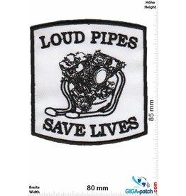 Biker Loud Pipes Sace Lives - black