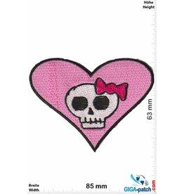 Totenkopf Love - Heart - Skull  Lady